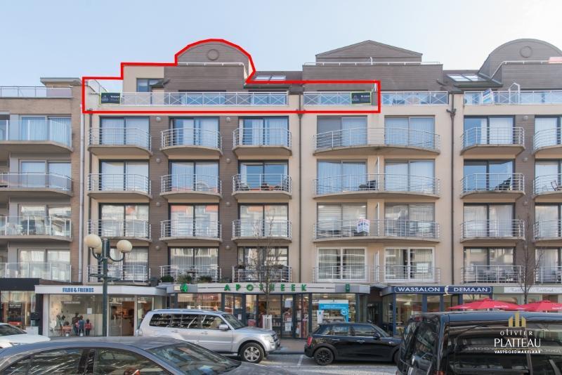 Zeer uniek dakappartement van 256 m² in de winkelstraat te Nieuwpoort-Bad.