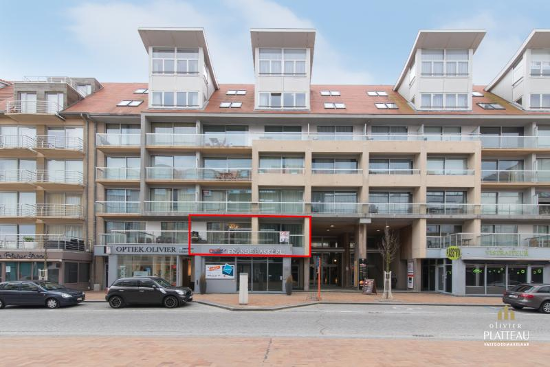 Ruim woonappartement met grote terrassen gelegen in de winkelstraat te Nieuwpoort-Bad.